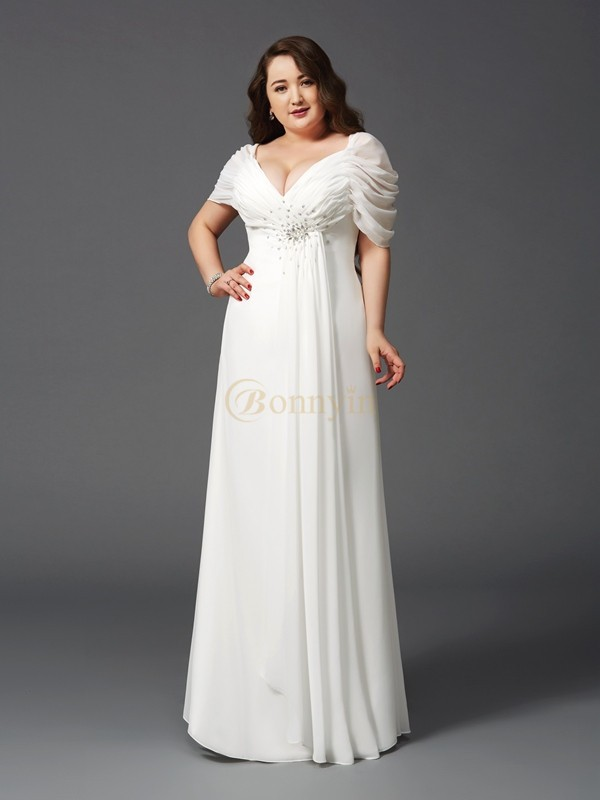 Ivory Chiffon Off the Shoulder A-Line/Princess Floor-Length Prom Dresses