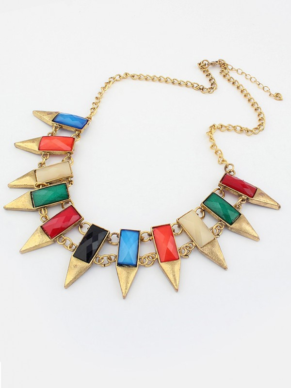 Occident Major suit Retro Geometry Irregular Hot Sale Necklace