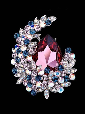 Beautiful Alloy With Crystal Ladies Brooch