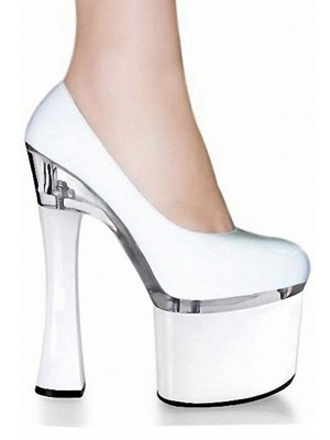 Women's Patent Leather Closed Toe Stiletto Heel High Heels