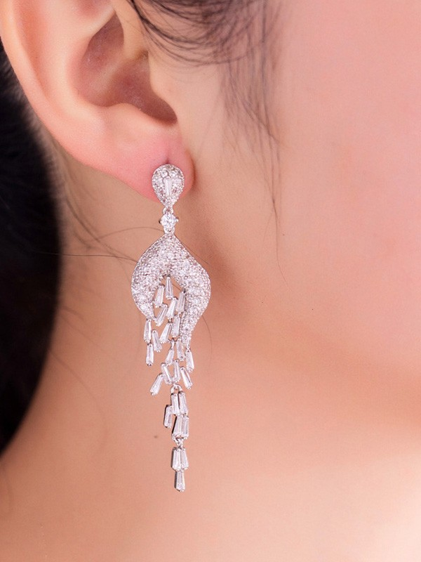 Charming Copper Hot Sale Drop Earrings For Ladies