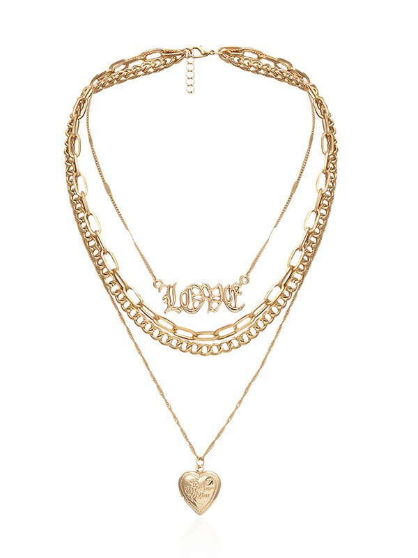Graceful Alloy With Love Necklaces For Women