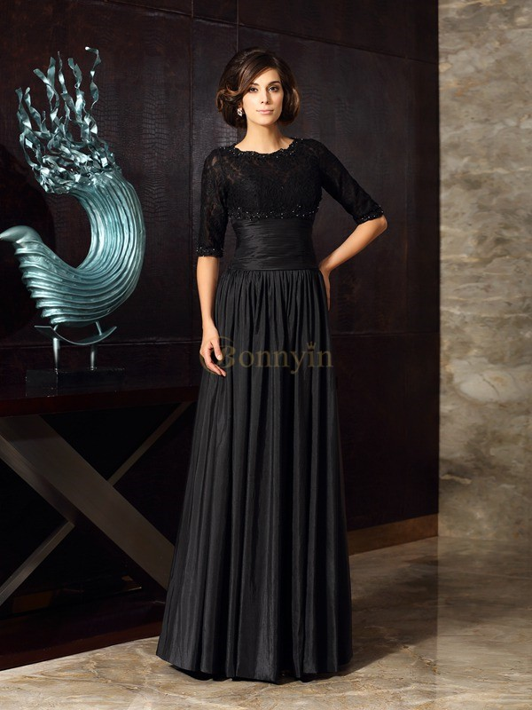 Black Taffeta Sweetheart A-Line/Princess Floor-Length Mother of the Bride Dresses
