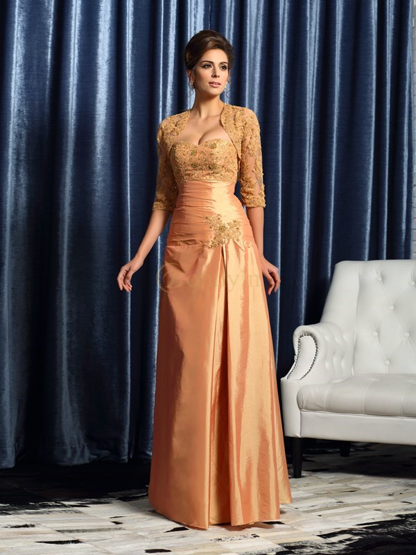 Orange Taffeta Sweetheart A-Line/Princess Floor-Length Mother of the Bride Dresses