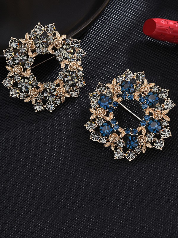 Fashion Alloy With Crystal Ladies Brooch
