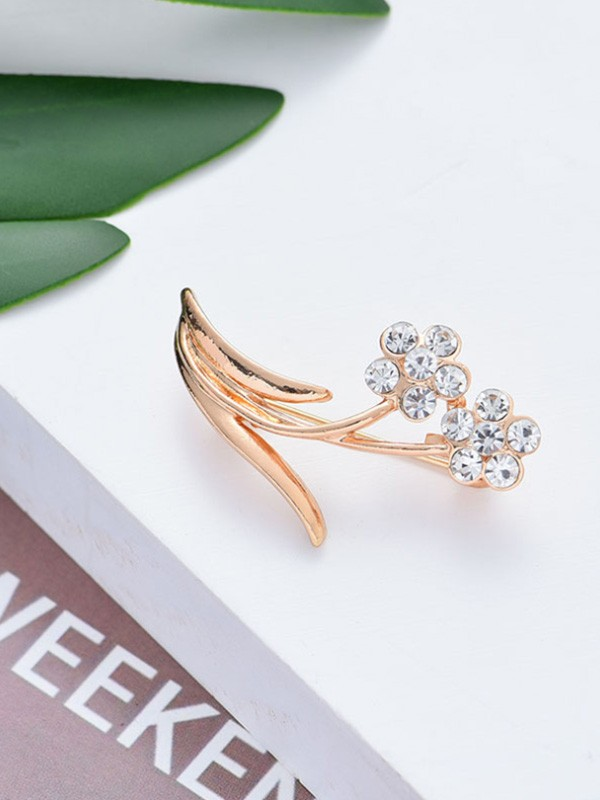 Chic Alloy With Rhinestone Ladies Brooch