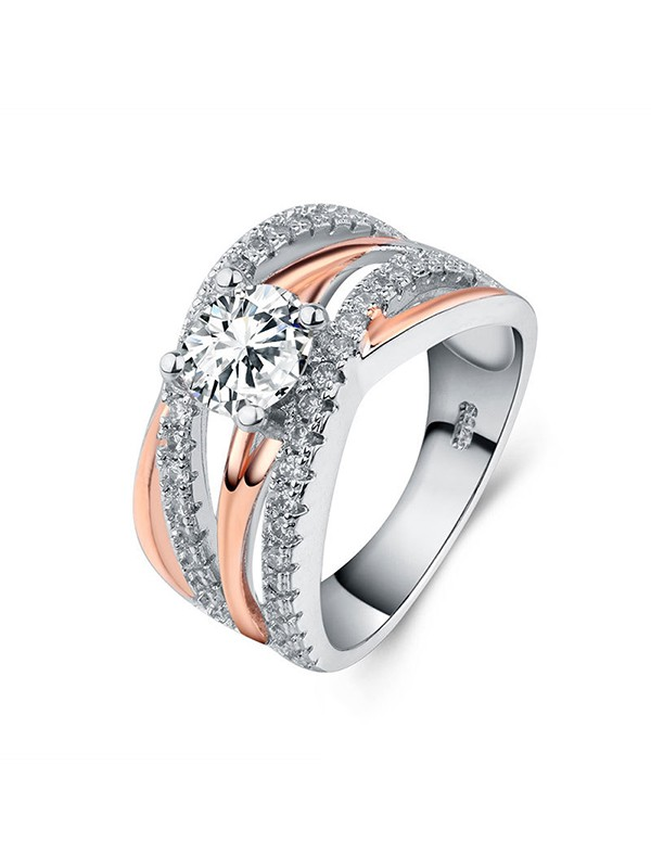 Gorgeous Copper With Zircon Hot Sale Wedding Rings