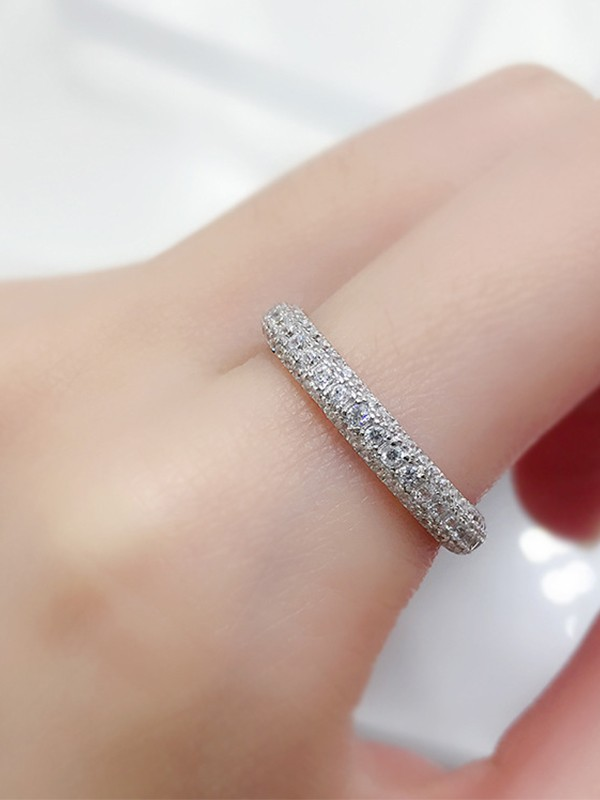 Classic S925 Silver With Rhinestone Hot Sale Rings