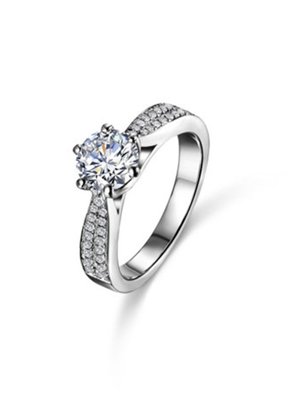 Fashion S925 Silver With High Carbon Diamond Wedding Rings