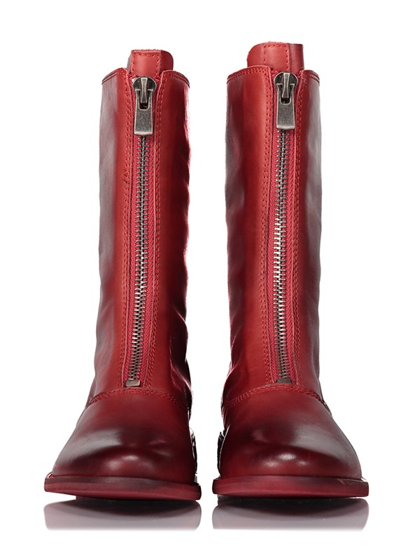 Women's Cattlehide Leather Closed Toe Boots