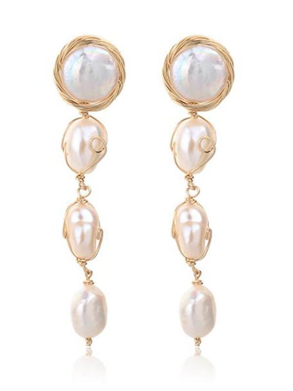 Beautiful Pearl Long Earrings For Ladies