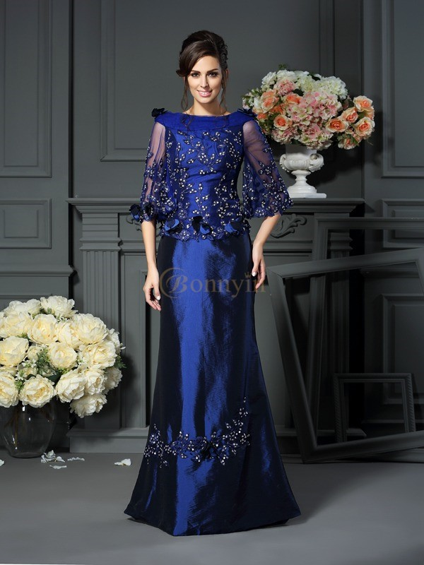 Royal Blue Taffeta Scoop A-Line/Princess Floor-Length Mother of the Bride Dresses