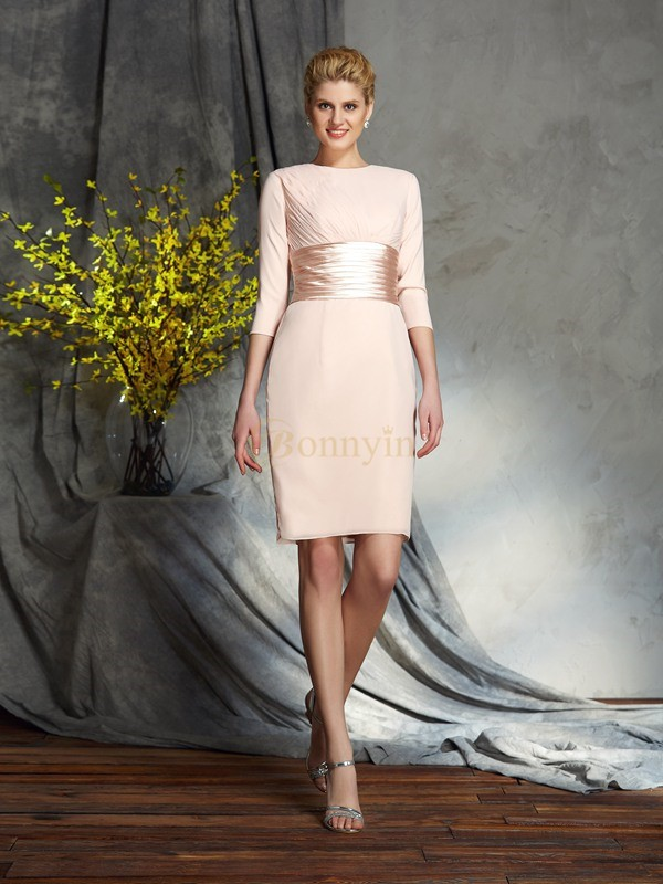 Chiffon Scoop Sheath/Column Short/Mini Mother of the Bride Dresses