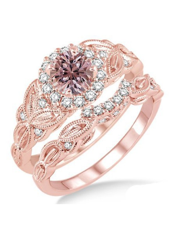 Brilliant Copper With Zircon Hot Sale Wedding Rings