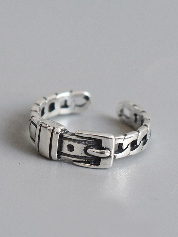 Attractive S925 Silver With Belt Hot Sale Adjustable Rings