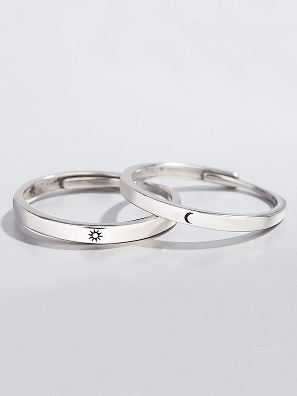 Pretty S925 Silver Hot Sale Adjustable Couple Rings