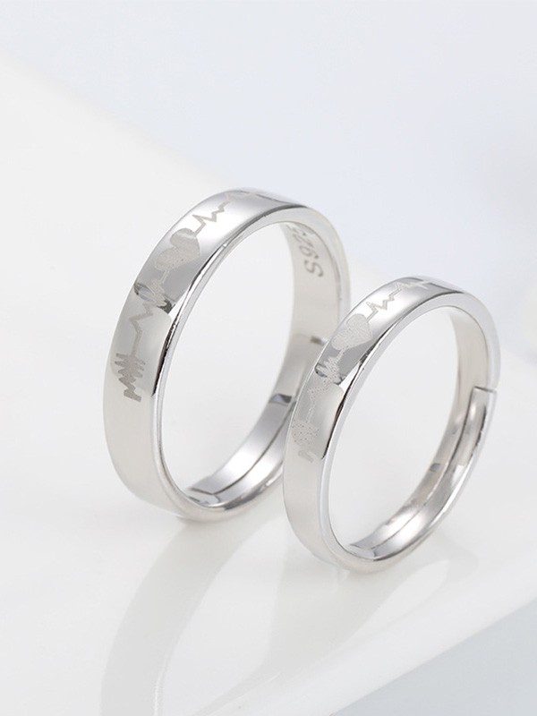 Classic S925 Silver Hot Sale Adjustable Couple Rings