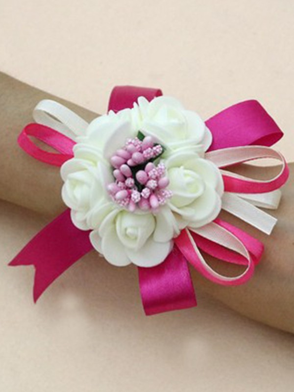 Charming Artificial Flower Wrist Corsage